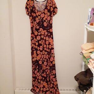 Lula Roe - Floral Maxi Dress -XL